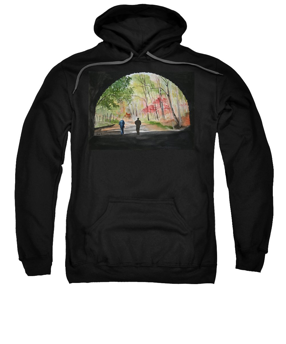 Road Sweatshirt featuring the painting On The Road To Nowhere by Jean Blackmer