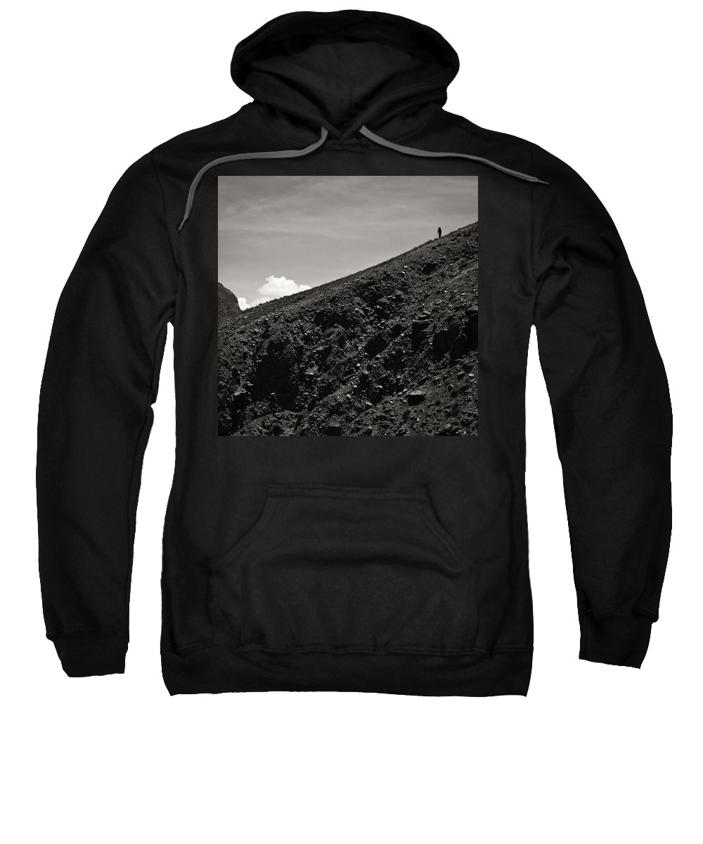 Alone Sweatshirt featuring the photograph On The Slope by Konstantin Dikovsky