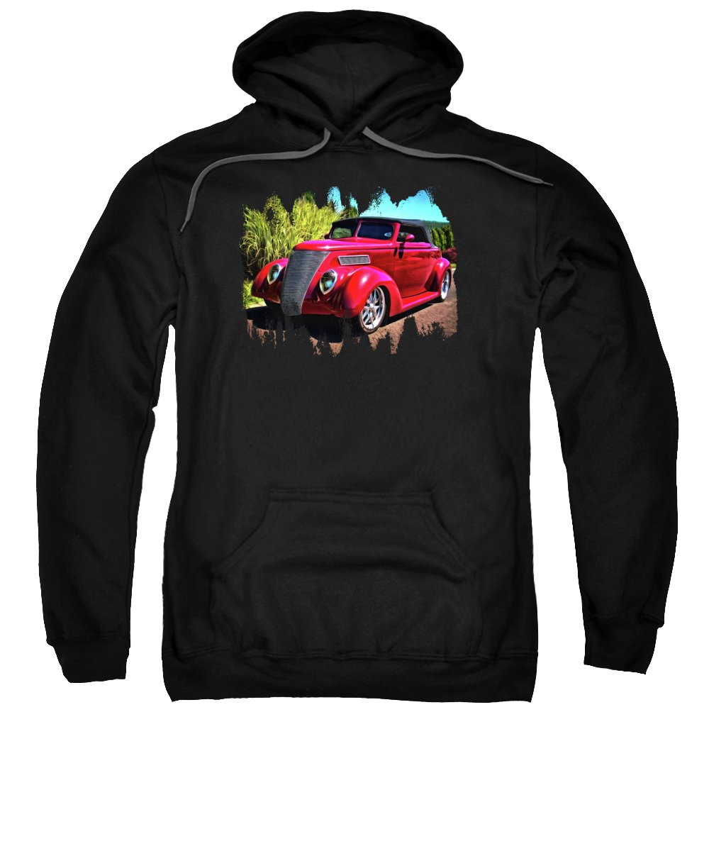 37 Ford Sweatshirt featuring the photograph One Cool 1937 Ford Roadster by Thom Zehrfeld