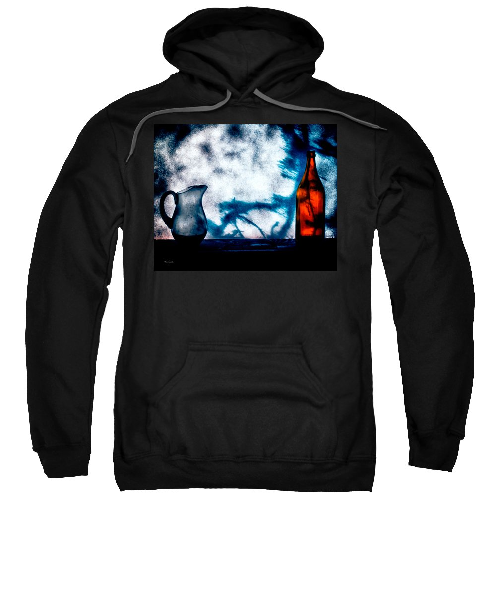 Still-life Sweatshirt featuring the photograph One Red Bottle by Bob Orsillo