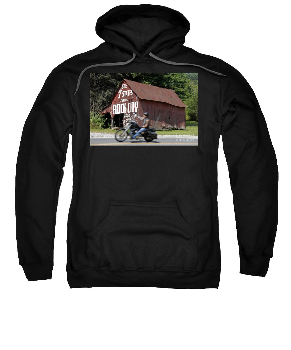 Motorcycle Sweatshirt featuring the photograph Open Road by David Lee Thompson