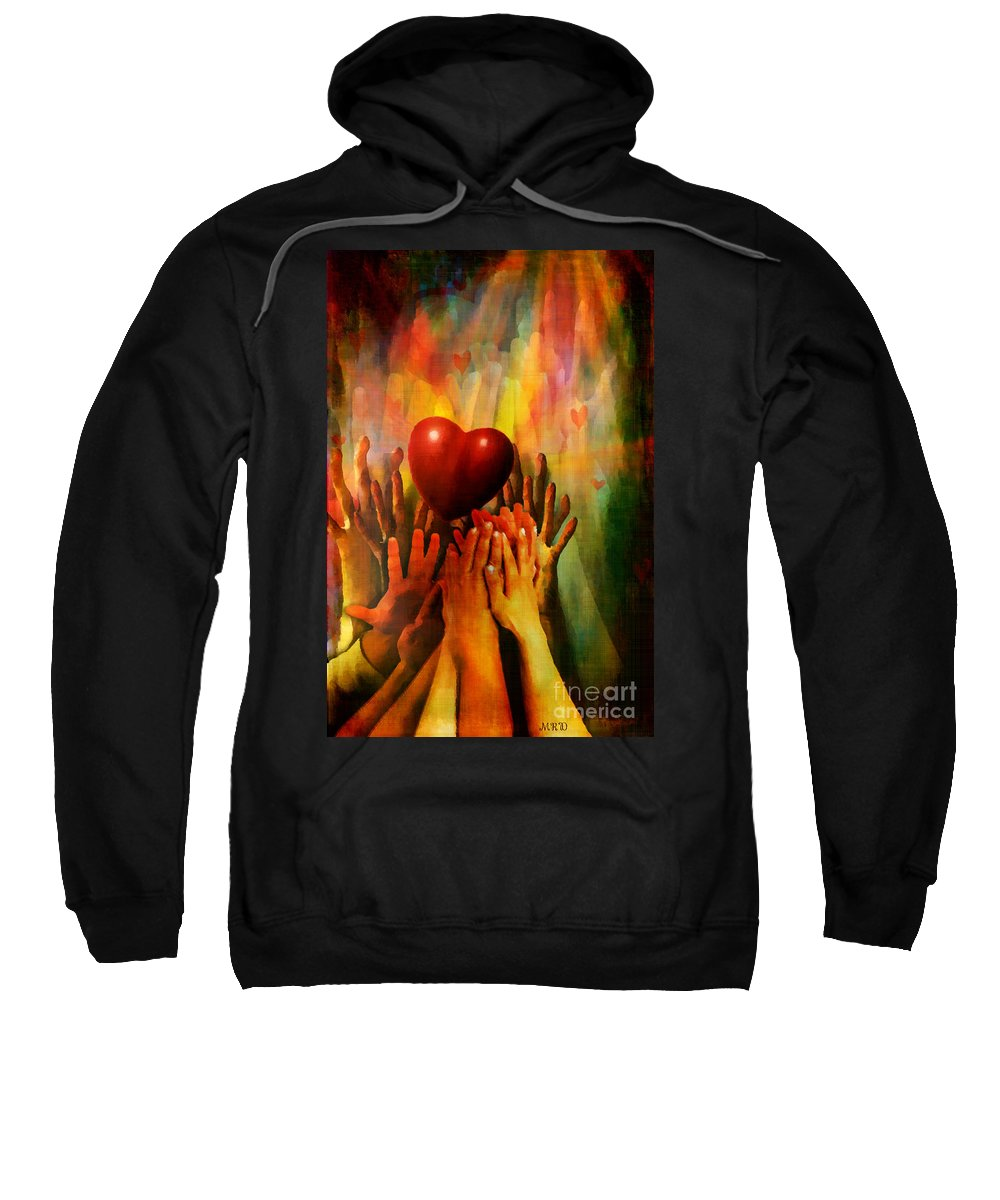 Love Art Sweatshirt featuring the digital art Opium Of The People by Gallery Beguiled