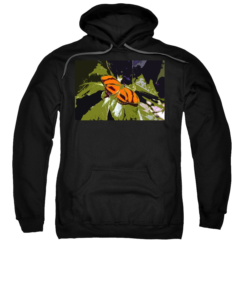 Butterfly Sweatshirt featuring the photograph Orange Butterfly by David Lee Thompson