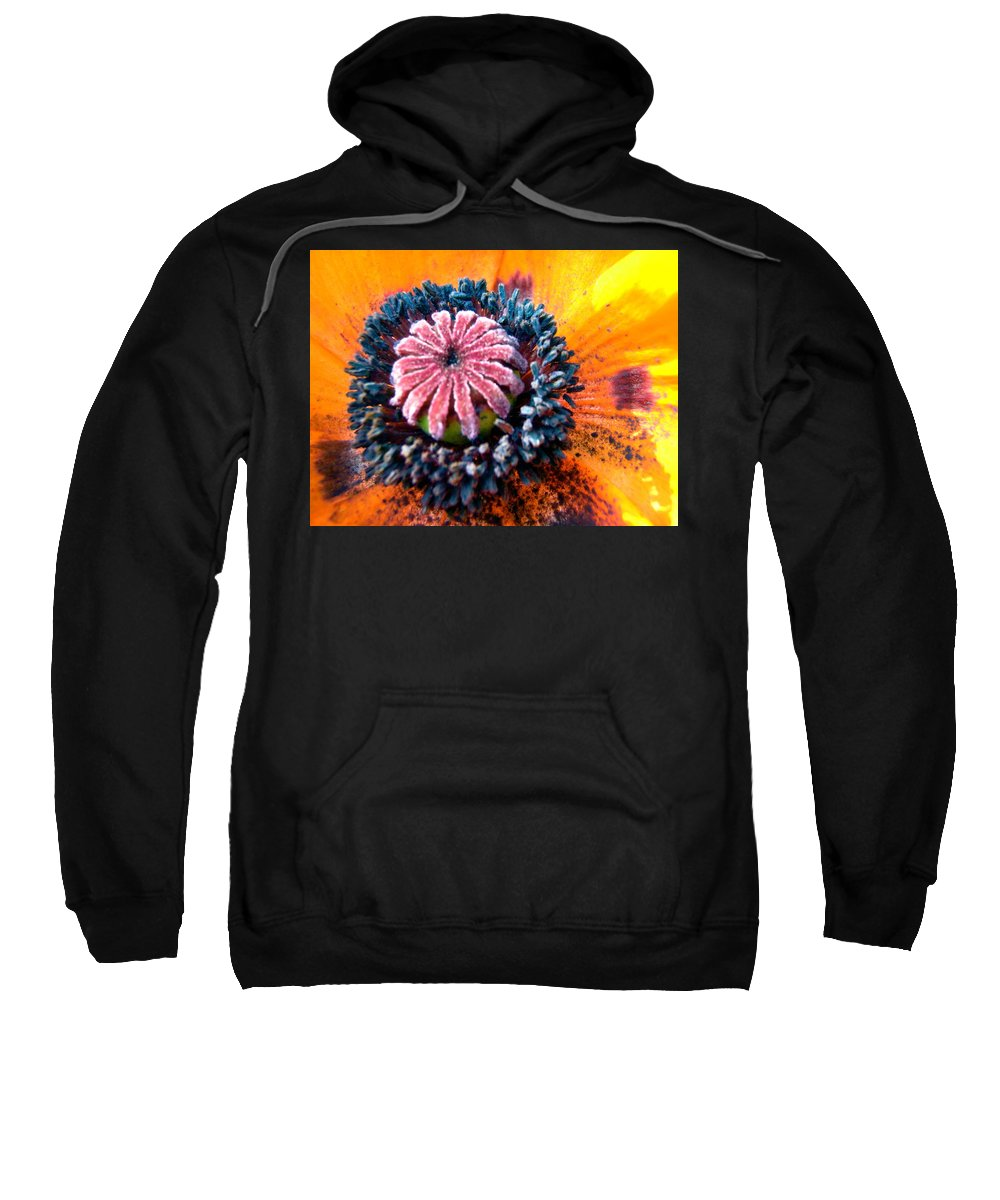 Poppy Sweatshirt featuring the photograph Orange Poppy by Stephanie Moore