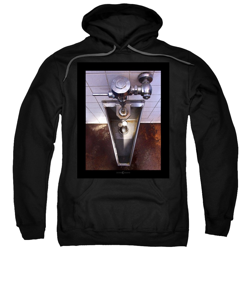 Urinal Sweatshirt featuring the photograph Orcas Island Urinal by Tim Nyberg