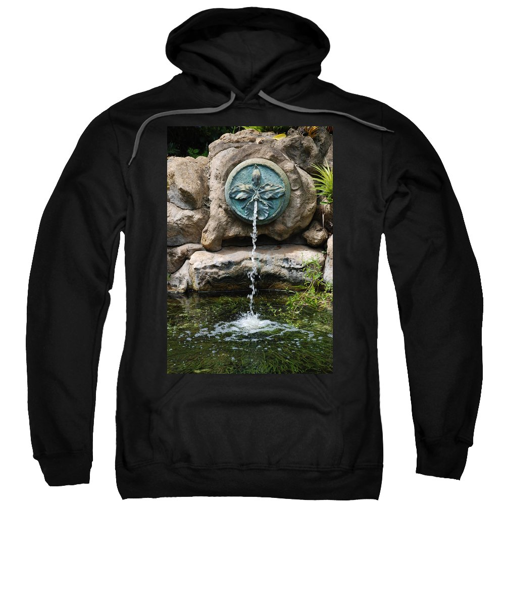 Orchid Sweatshirt featuring the photograph Orchid Fountian by Rob Hans