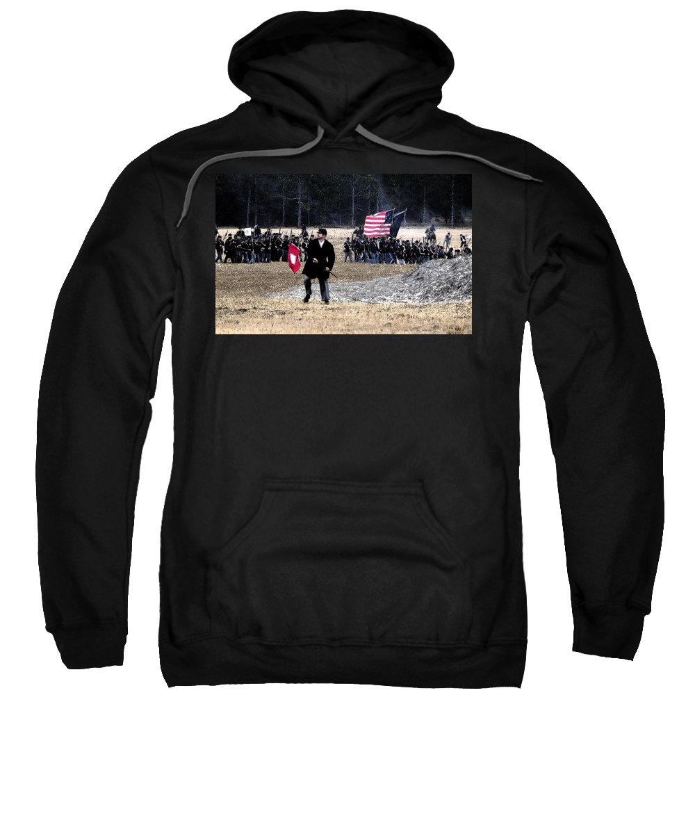 Art Sweatshirt featuring the painting Orders To Advance by David Lee Thompson