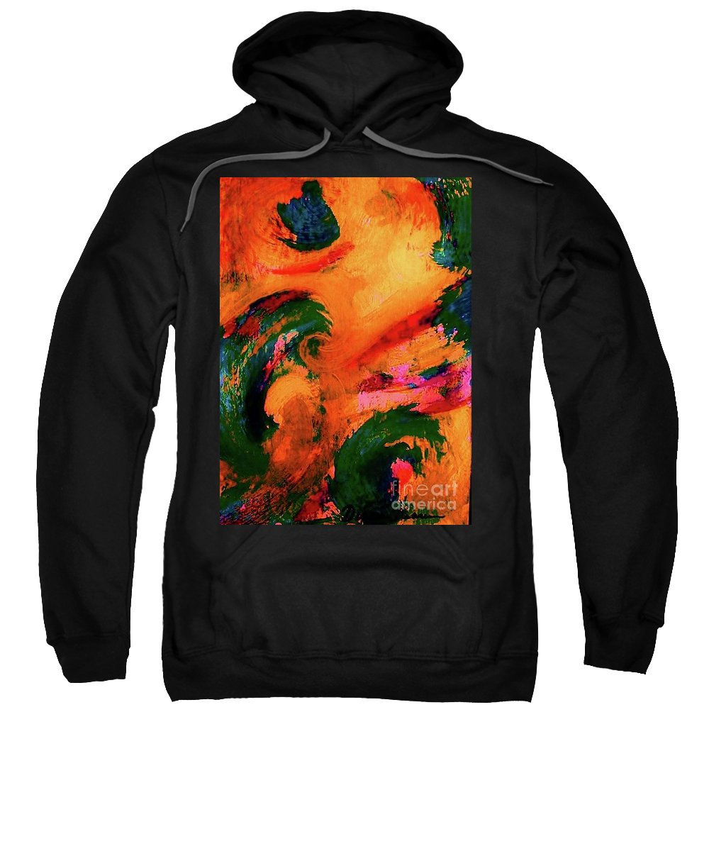 Abstract Sweatshirt featuring the painting Organic Clash by Diana Dearen