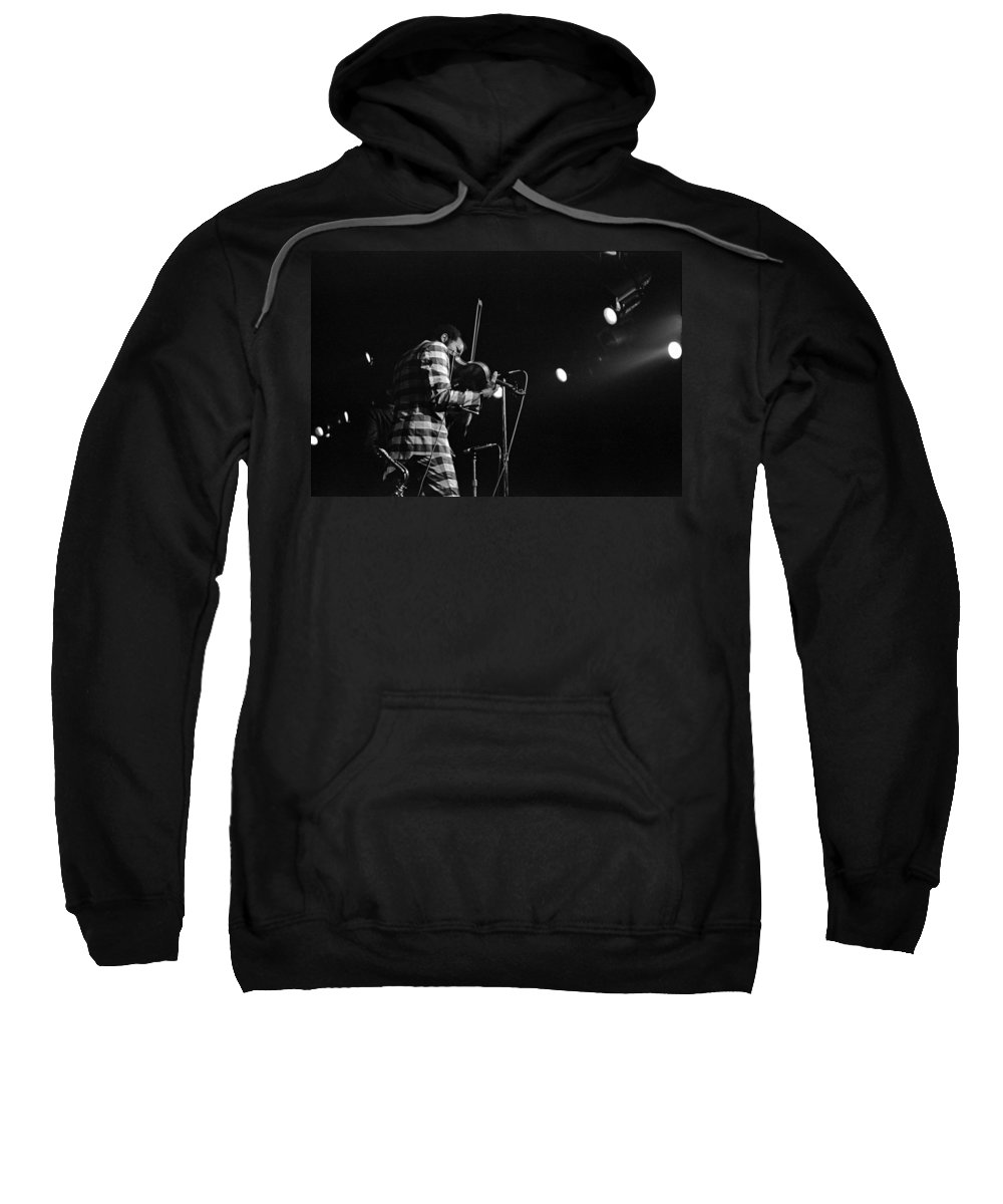 Ornette Coleman Sweatshirt featuring the photograph Ornette Coleman On Violin by Lee Santa