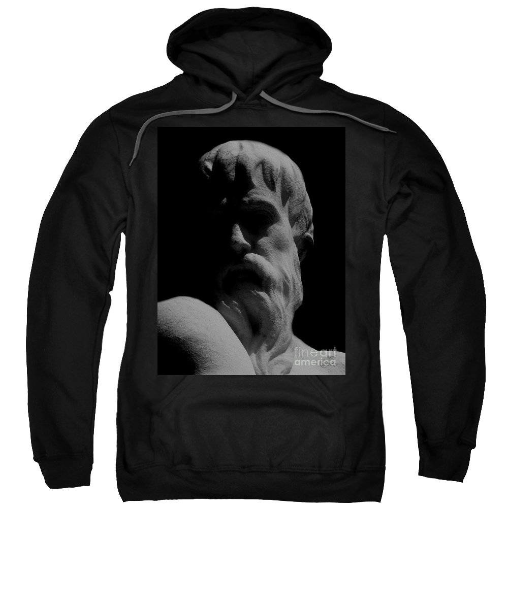 Black And White Sweatshirt featuring the photograph Orpheus Looks Back by RC DeWinter