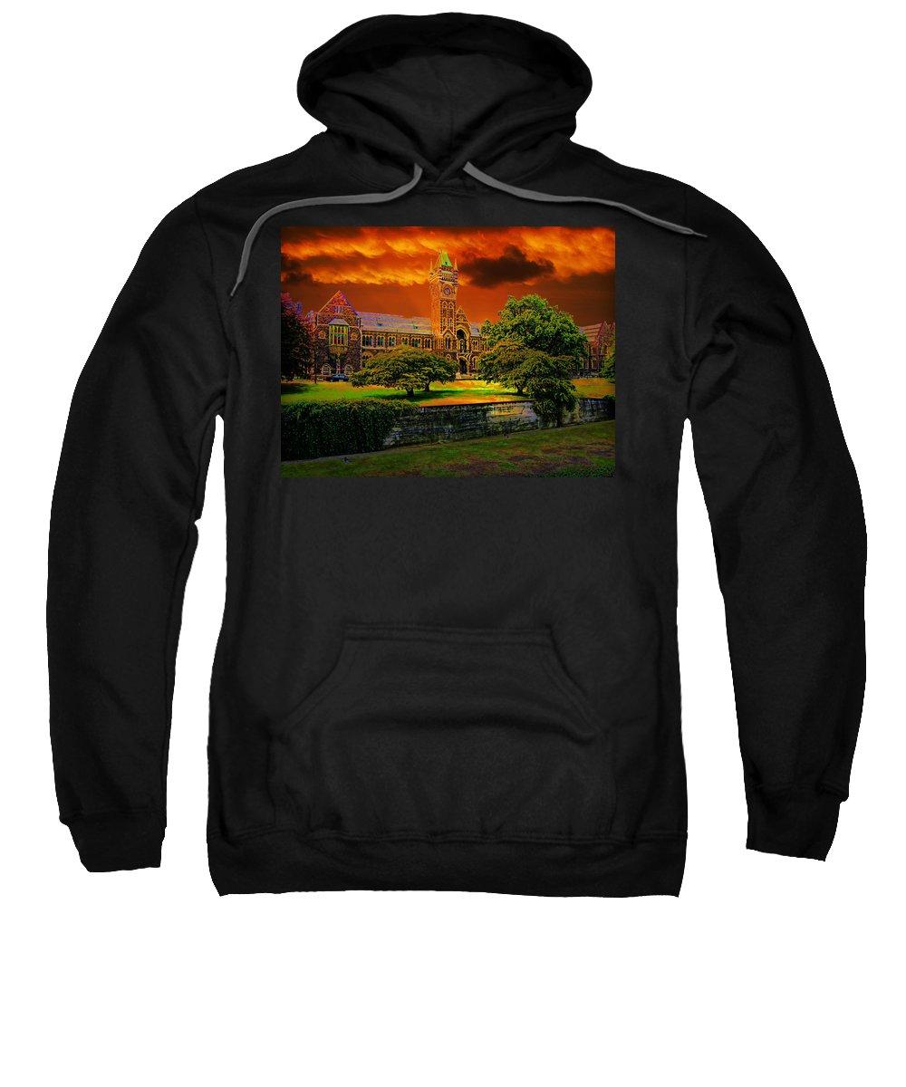 Sunset Sweatshirt featuring the photograph Otago Uni by Douglas Barnard