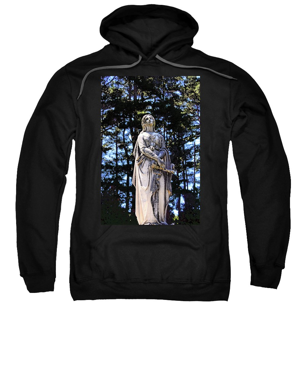 Statue Sweatshirt featuring the photograph Our Lady by Erin Rosenblum