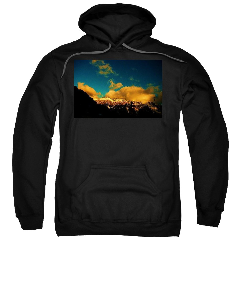 Switzerland Sweatshirt featuring the photograph Ouro by Nila Poduschco