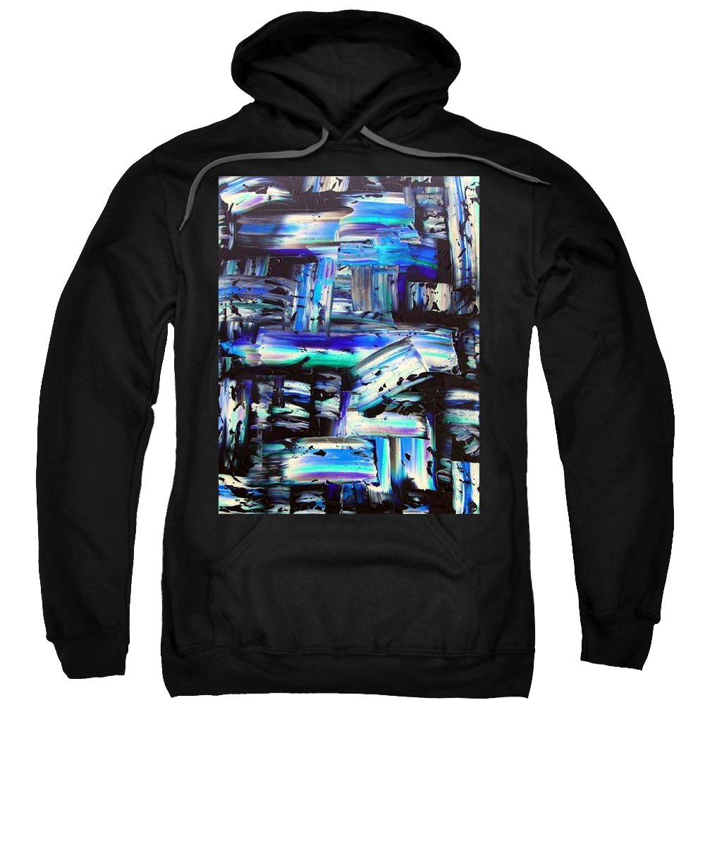 Out Of The Blue Sweatshirt featuring the painting Out Of The Blue by Dawn Hough Sebaugh