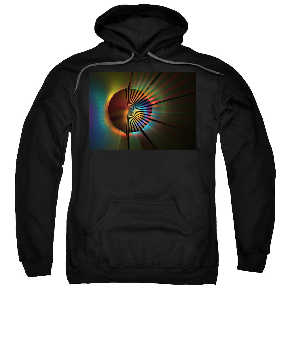 Apophysis Sweatshirt featuring the digital art Out Of The Corner Of My Eye by Lyle Hatch