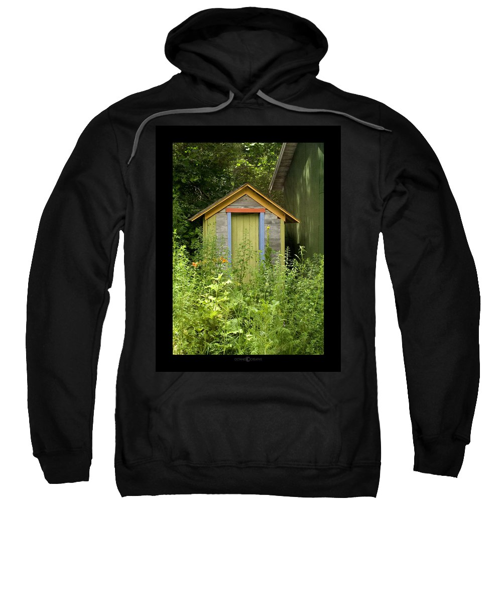 Outhouse Sweatshirt featuring the photograph Outhouse by Tim Nyberg
