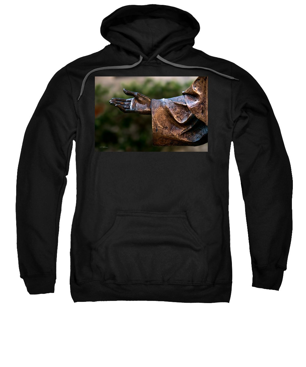 Han Sweatshirt featuring the photograph Outstretched Hand by Christopher Holmes