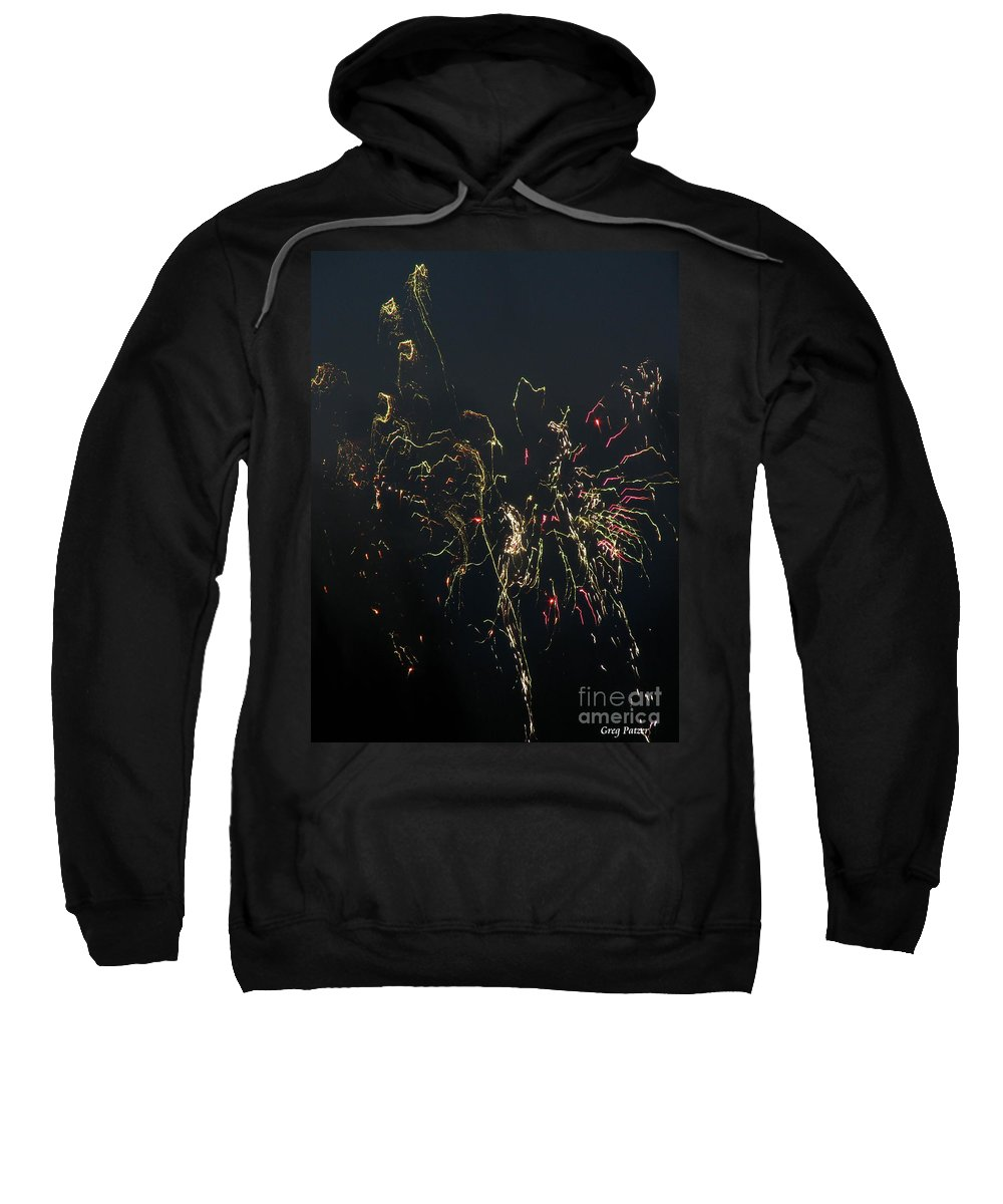 Patzer Sweatshirt featuring the photograph Over Fort Lee by Greg Patzer