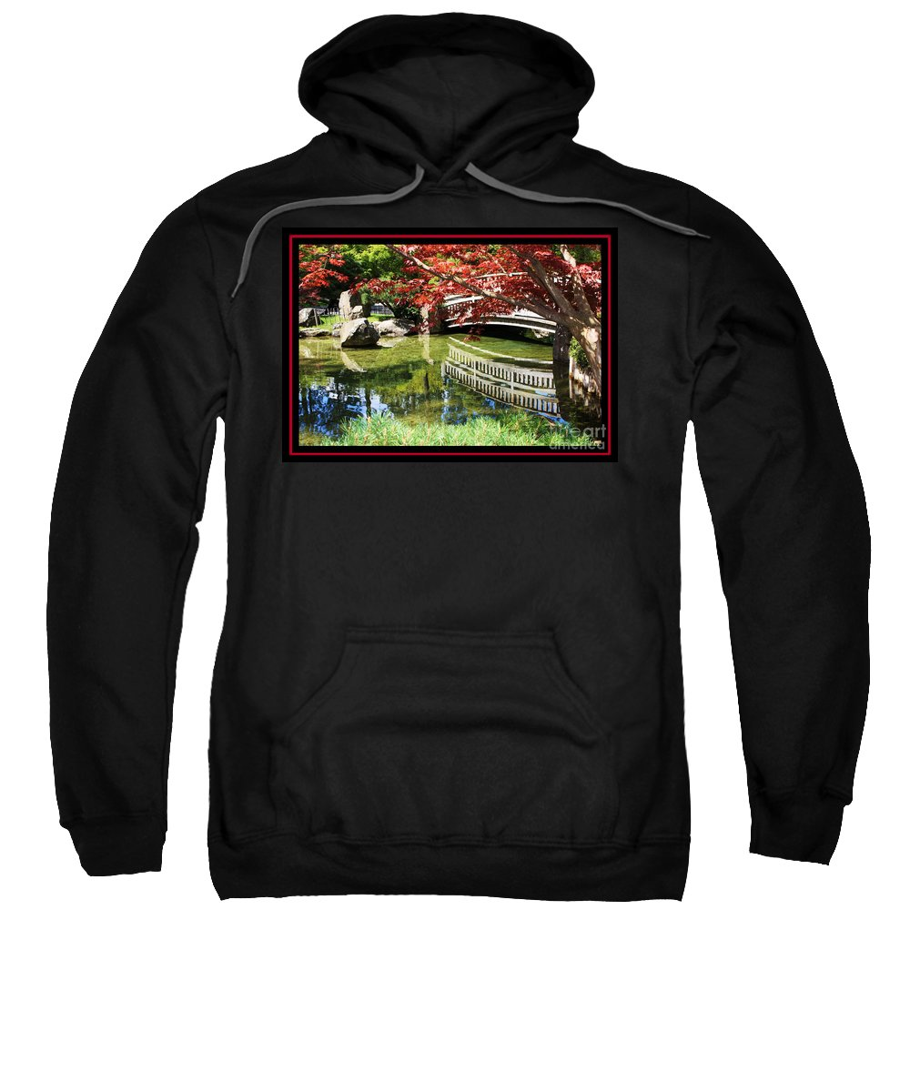 Spring Sweatshirt featuring the photograph Over Springtime Pond by Carol Groenen