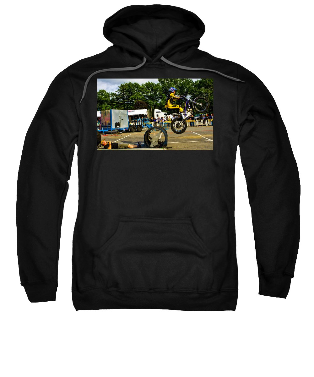 Pat Smage Sweatshirt featuring the photograph Ovver The Barrels by Jeff Kurtz