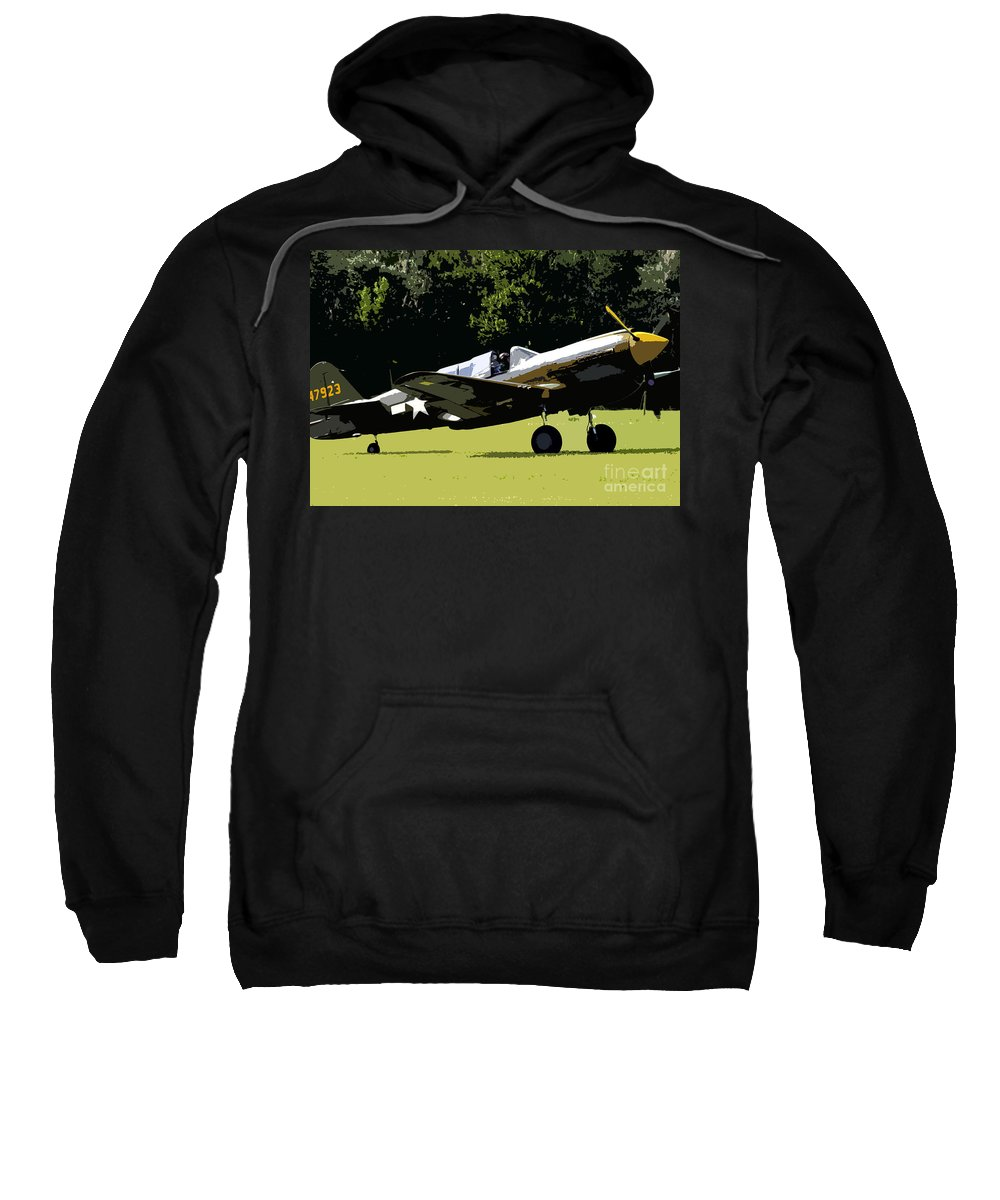 P 40 Sweatshirt featuring the painting P40 Take Off by David Lee Thompson