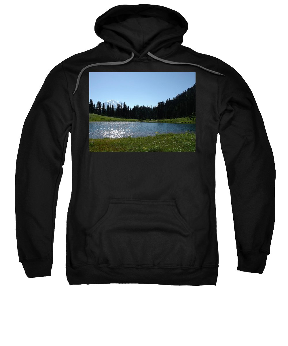 Sweatshirt featuring the photograph Pacific Northwest by Sally Falkenhagen