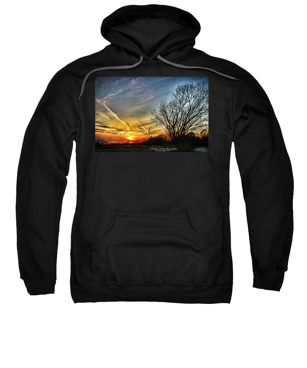 Jetstream Sweatshirt featuring the photograph Painted Autumn Sunset by Marty Kugler