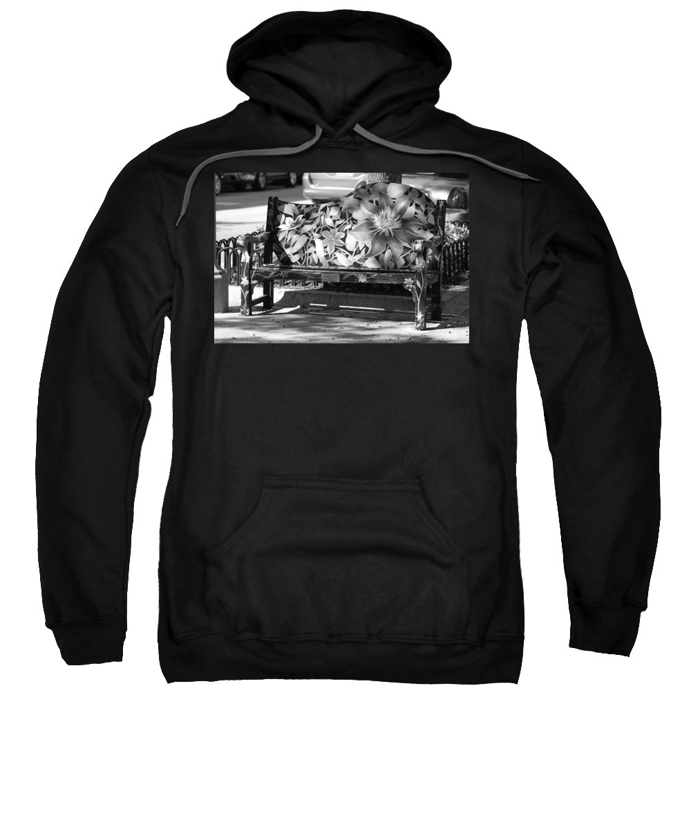 Pop Art Sweatshirt featuring the photograph Painted Bench by Rob Hans