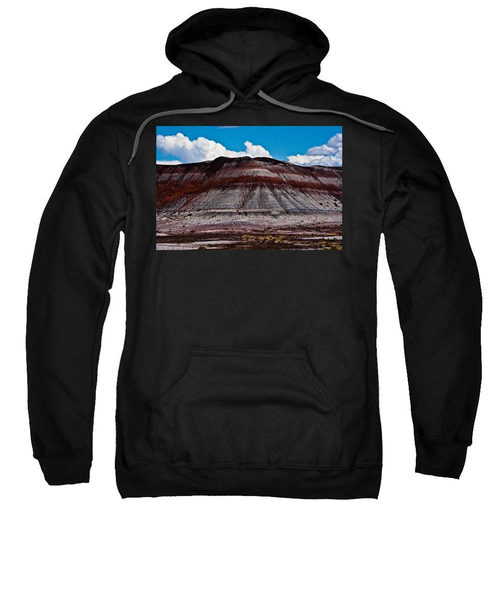 Painted Sweatshirt featuring the photograph Painted Desert #5 by Robert J Caputo