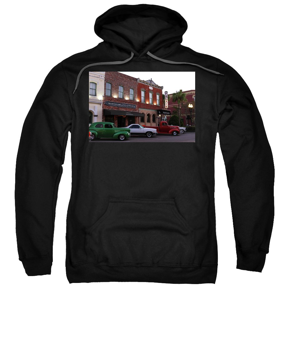 Car Show Sweatshirt featuring the photograph Palace Parking by Timothy Cummiskey