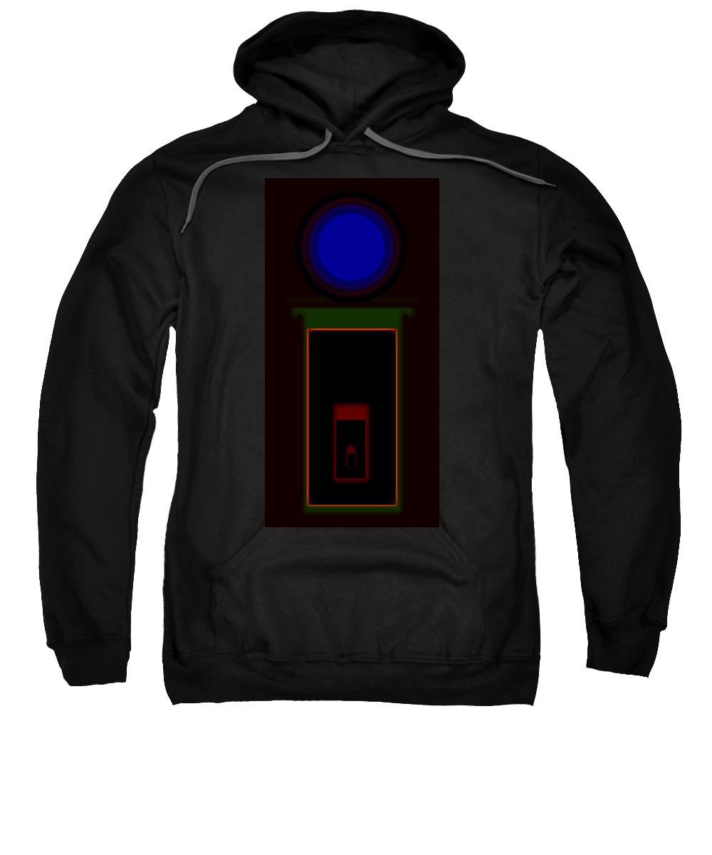 Palladian Sweatshirt featuring the painting Palladian Night by Charles Stuart