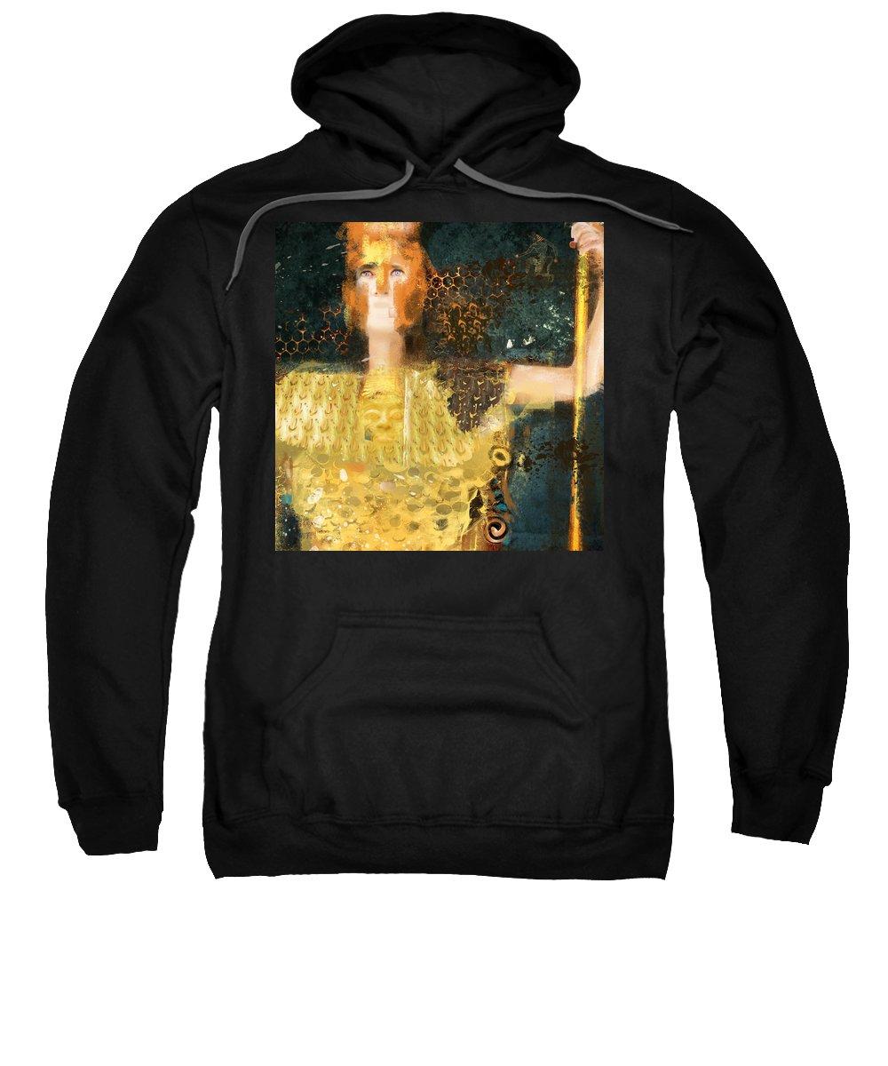 Pallas Athena Sweatshirt featuring the photograph Pallas Athena by Dray Van Beeck