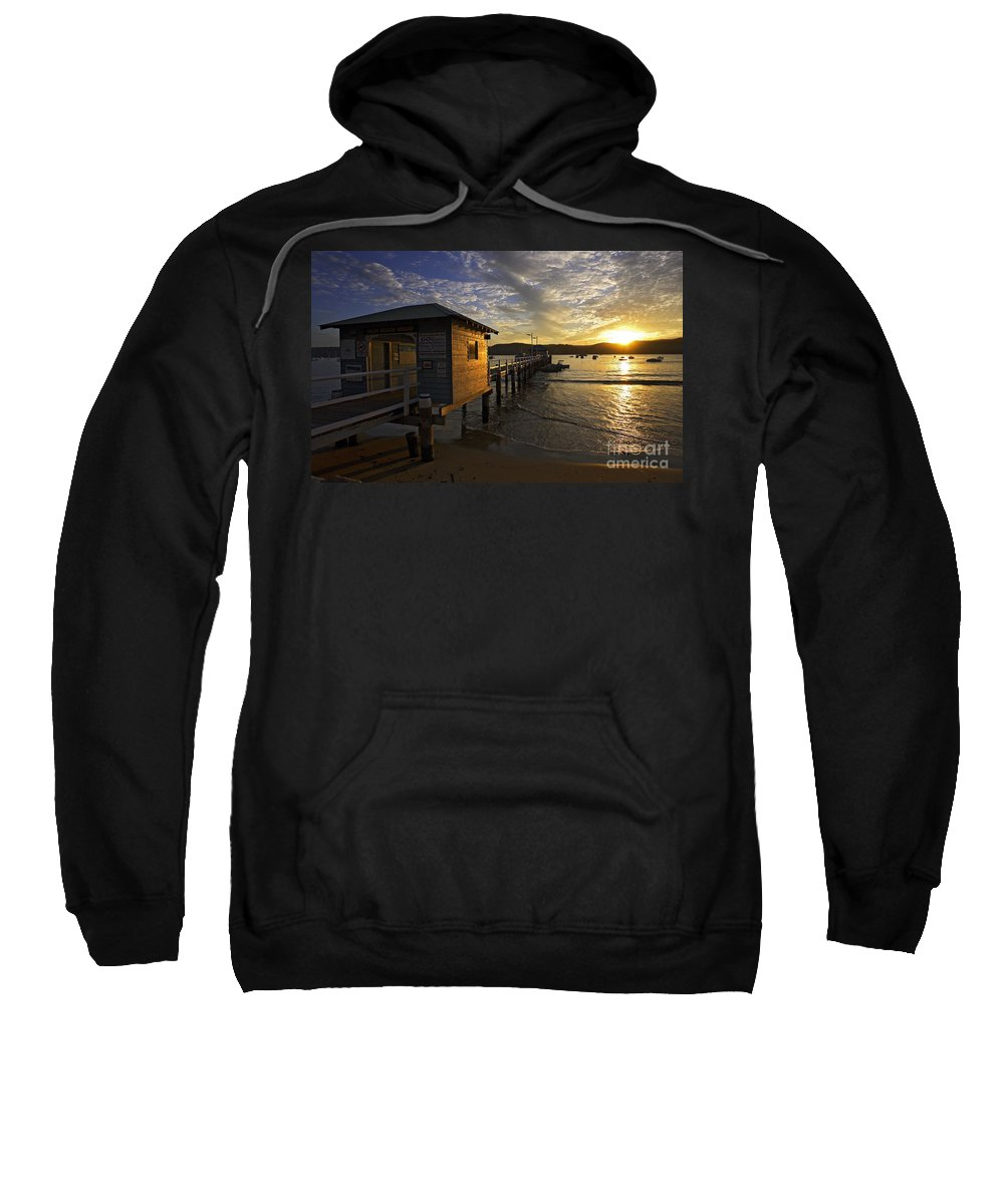 Palm Beach Sydney Australia Sunset Water Pittwater Sweatshirt featuring the photograph Palm Beach Sunset by Sheila Smart Fine Art Photography