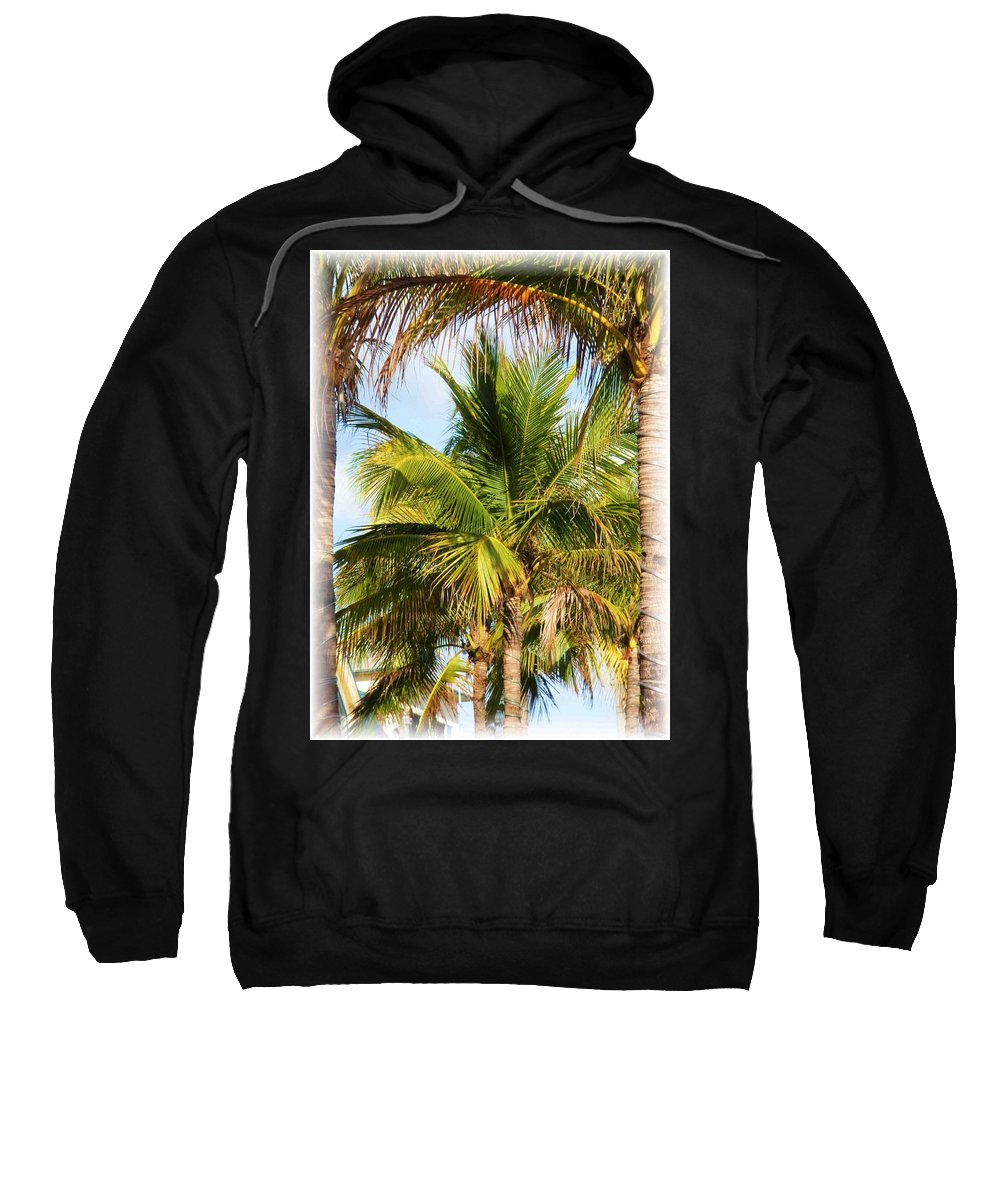 Palm Sweatshirt featuring the photograph Palm Portrait by Nelson Strong