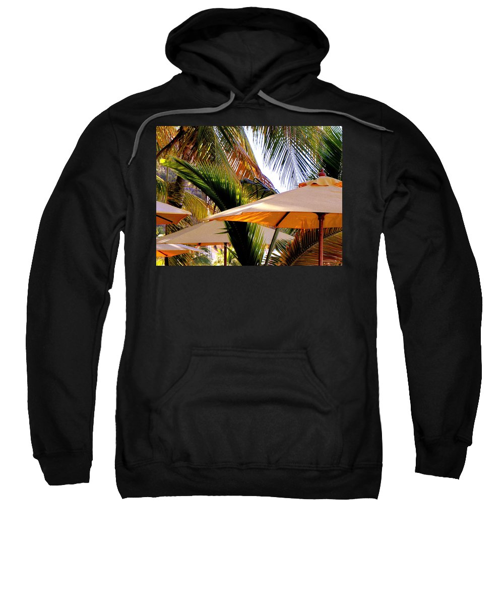 Umbrellas Sweatshirt featuring the photograph Palm Serenity by Karen Wiles