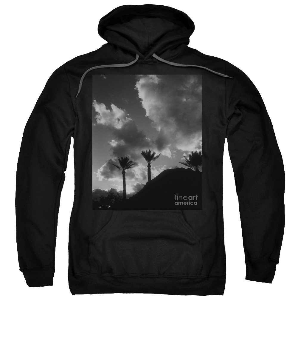 Sweatshirt featuring the photograph Palm Silhouette by Heather Kirk