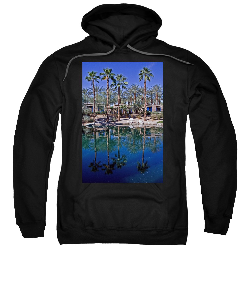 Palm Trees Sweatshirt featuring the photograph Palm Tree Reflections by David Campbell