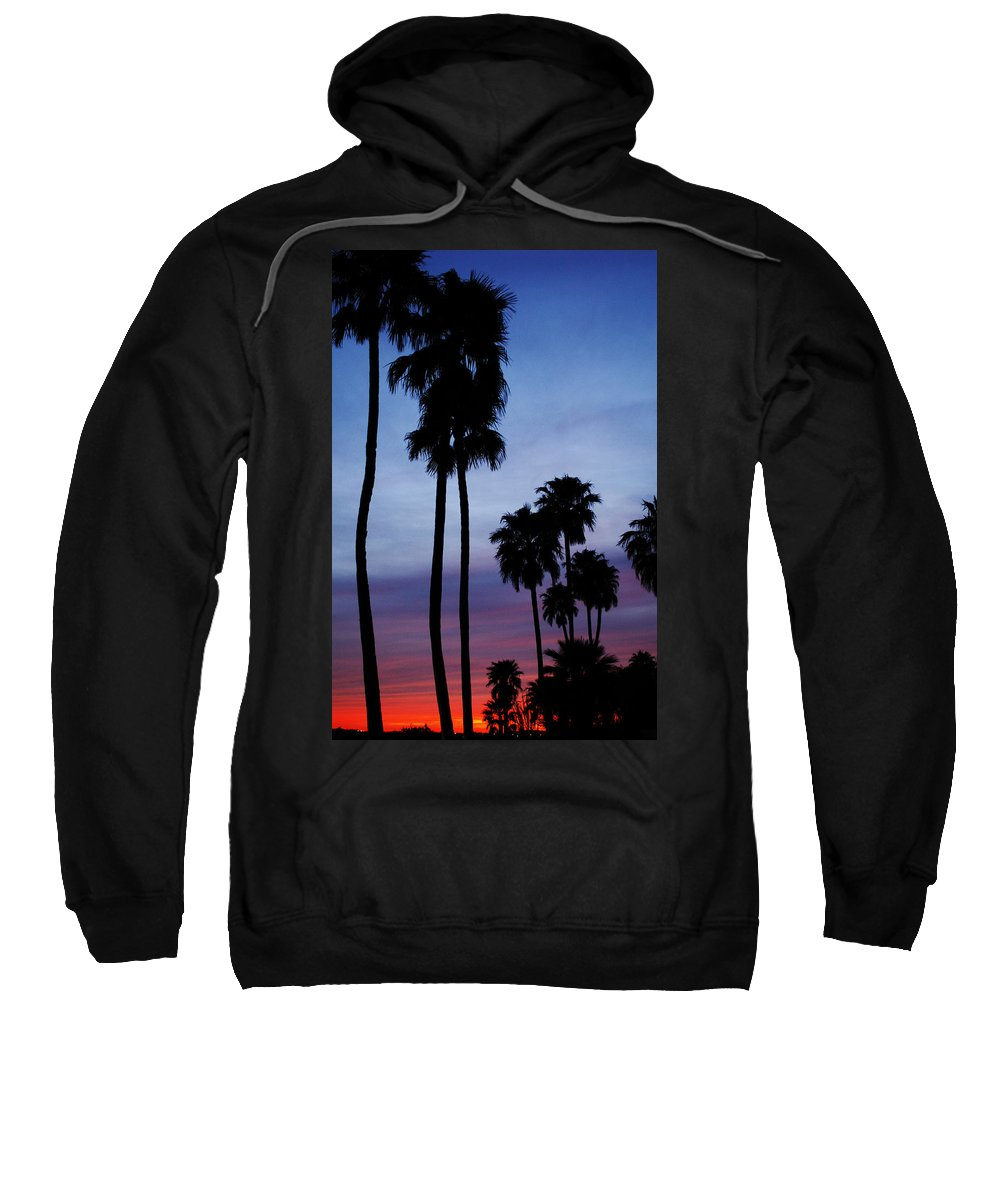 Palm Trees Sweatshirt featuring the photograph Palm Trees At Sunset by Jill Reger