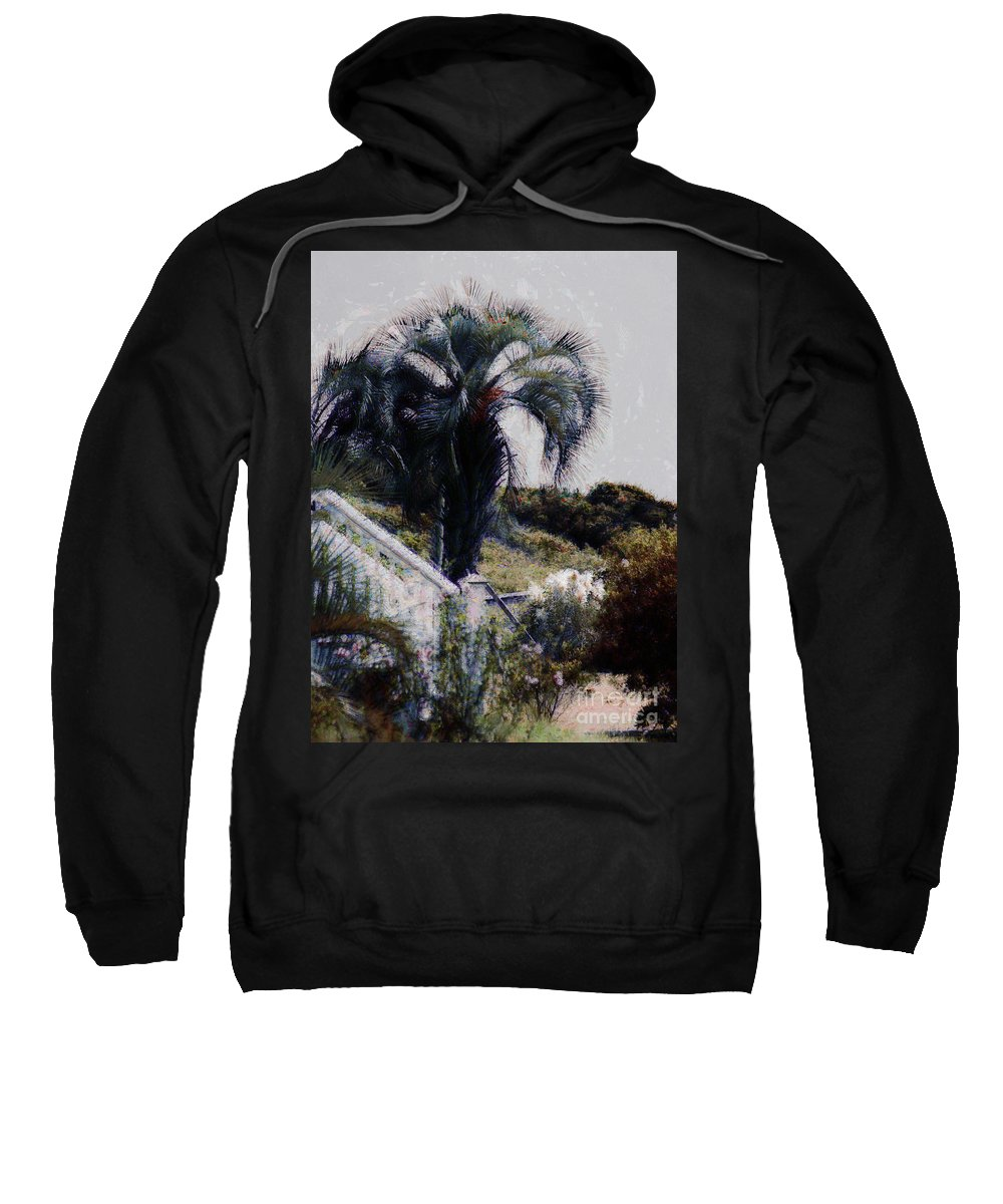Palmetto Tree Sweatshirt featuring the photograph Palmetto Beach by Donna Bentley