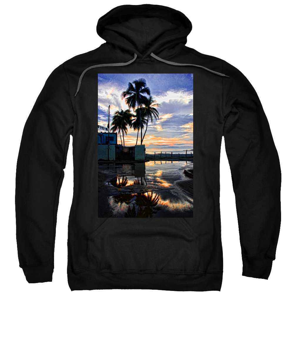 Palms Sweatshirt featuring the photograph Palms And Sunshine by Galeria Trompiz