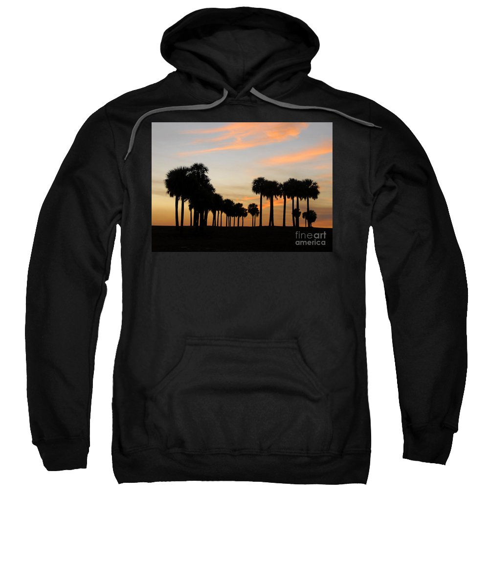 Palm Trees Sweatshirt featuring the photograph Palms At Sunset by David Lee Thompson