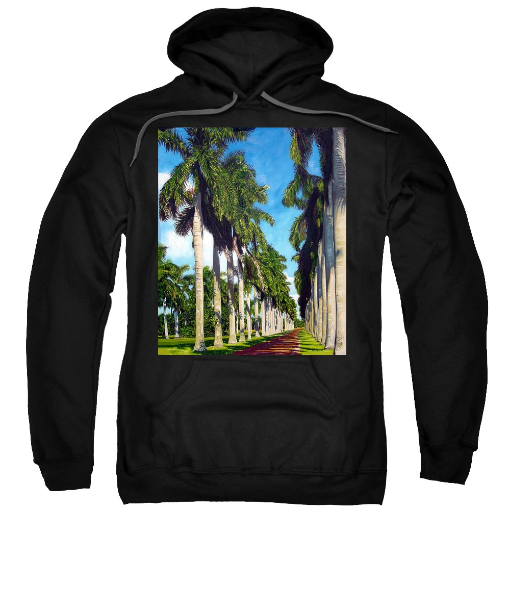 Palms Sweatshirt featuring the painting Palms by Jose Manuel Abraham