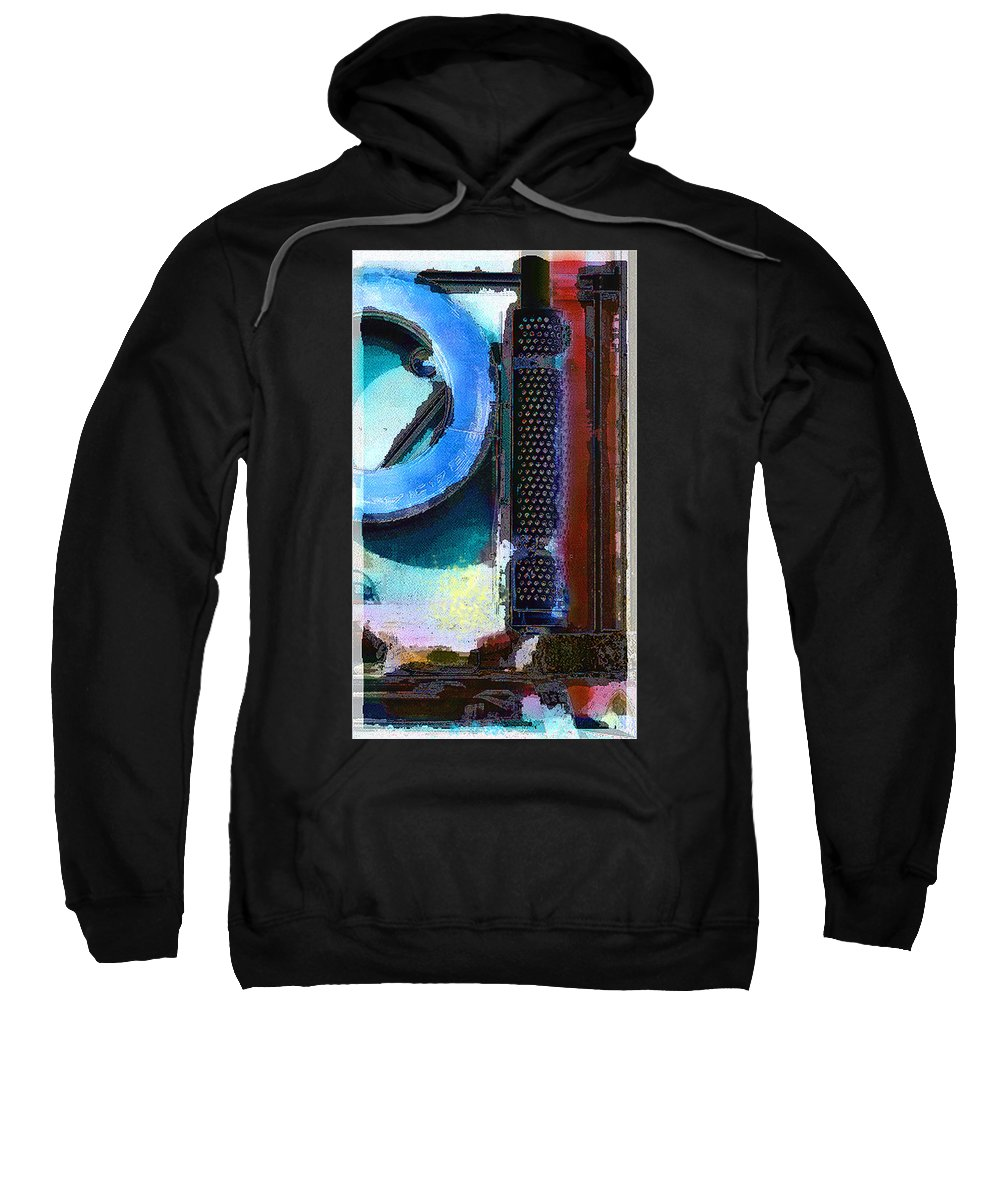 Abstract Sweatshirt featuring the photograph panel one from Centrifuge by Steve Karol