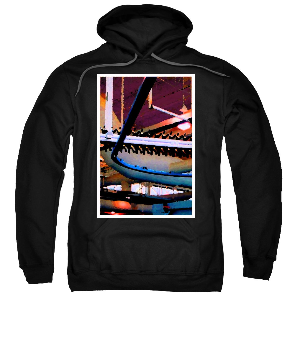 Abstract Sweatshirt featuring the photograph Panel Three From Star Factory by Steve Karol