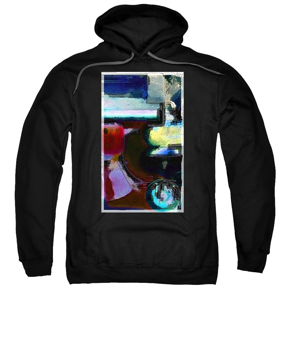 Abstract Sweatshirt featuring the photograph panel two from Centrifuge by Steve Karol