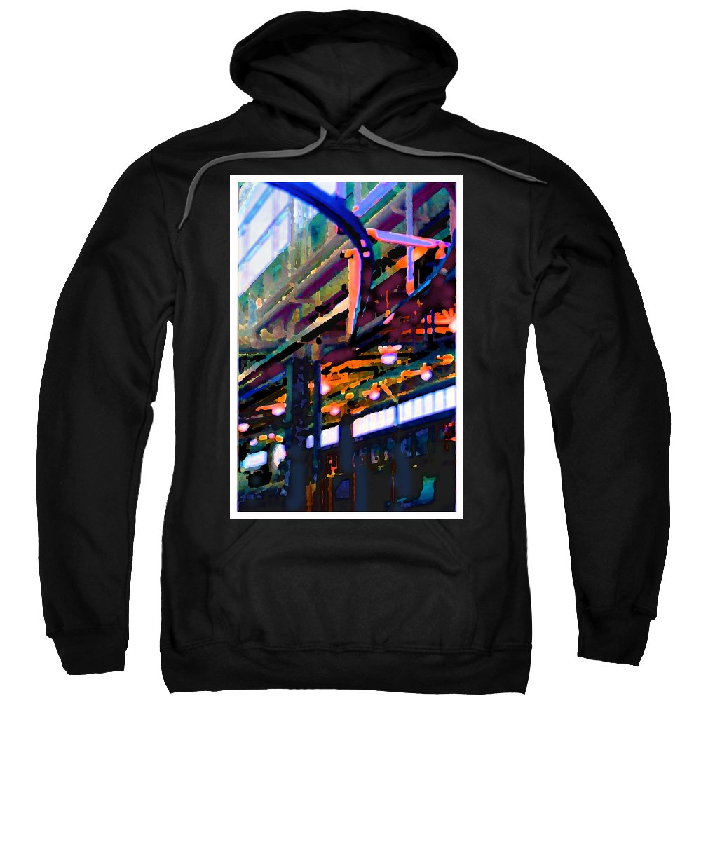 Abstract Sweatshirt featuring the photograph panel two from Star Factory by Steve Karol