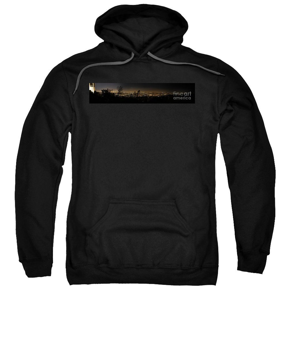 Clay Sweatshirt featuring the photograph Pano From Griffeth Observatory by Clayton Bruster