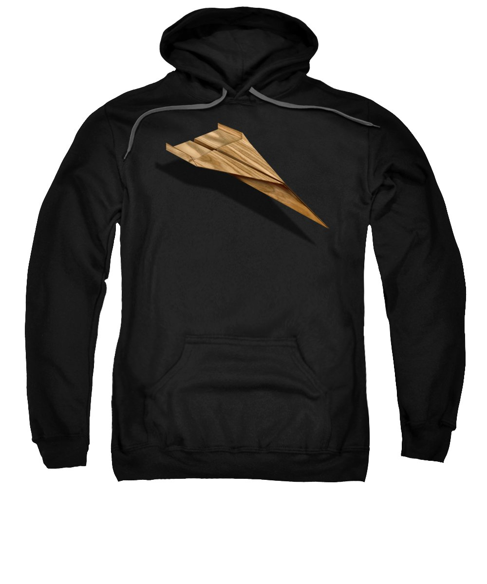 Aircraft Sweatshirt featuring the photograph Paper Airplanes of Wood 3 by YoPedro