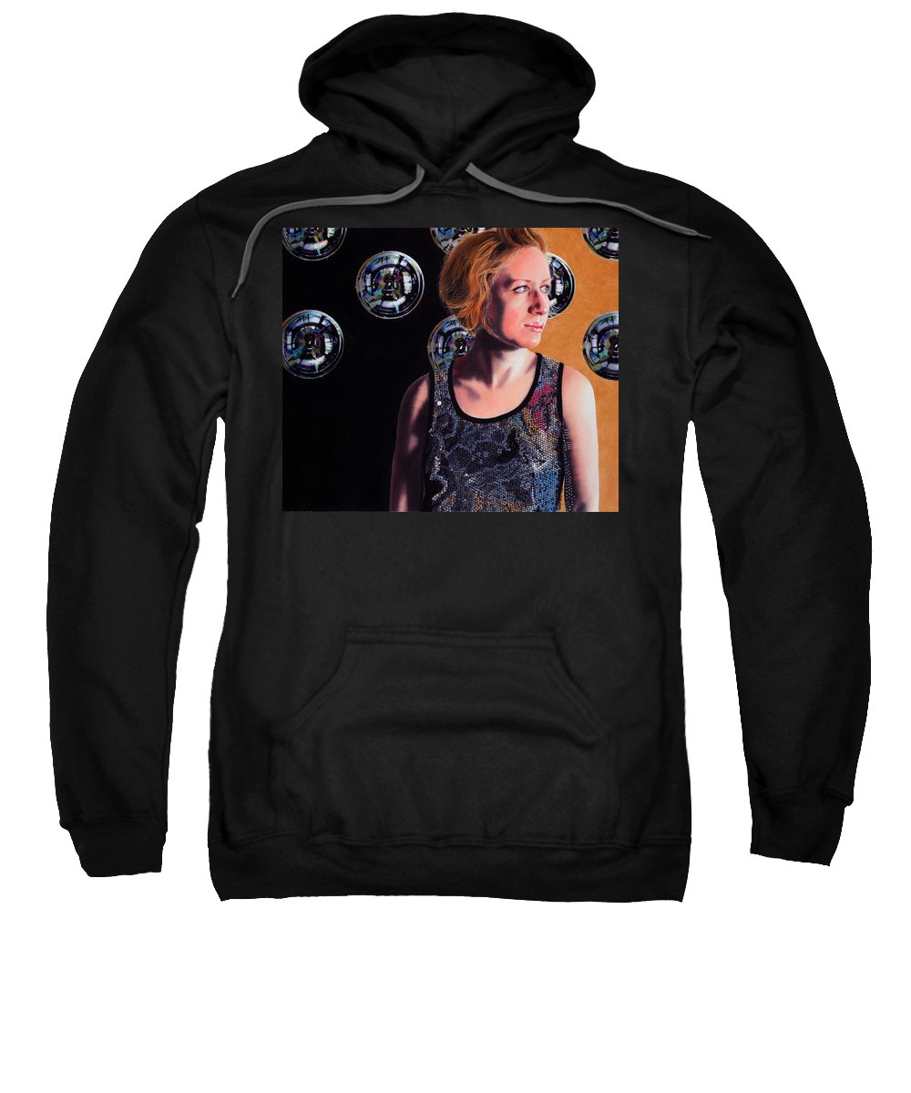 Portrait Sweatshirt featuring the painting Parallel Spheres by Denny Bond