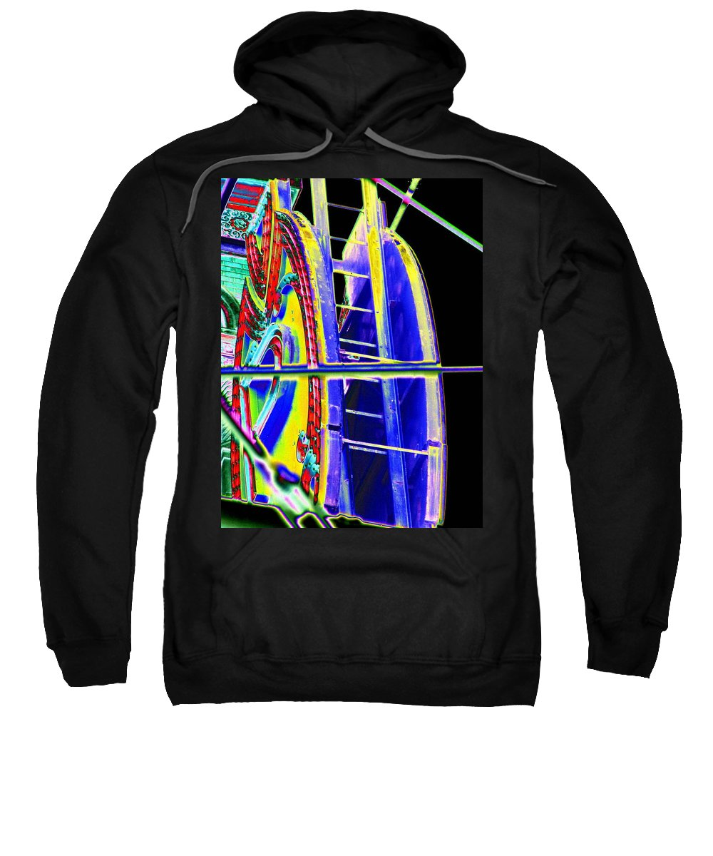 Seattle Sweatshirt featuring the digital art Paramount Theater Detail by Tim Allen